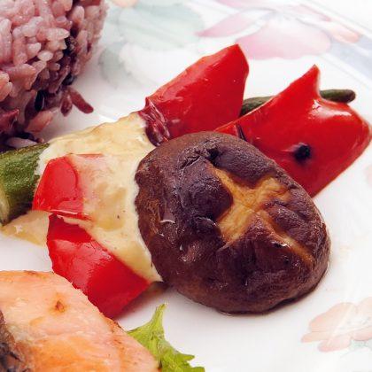 酵素デトックスダイエットレシピ 焼き野菜の温サラダ
